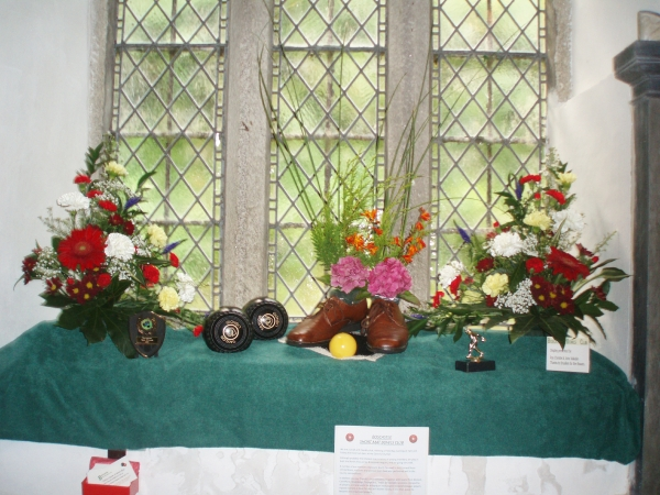 Flower display Minster Church