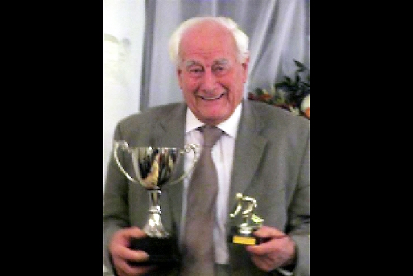 Alfred with Boscastle Bowls club awards